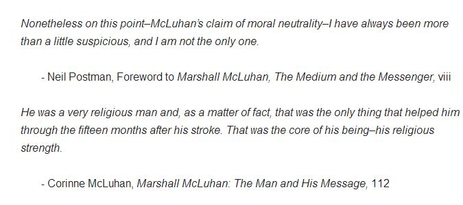 marshall mcluhans theory essay