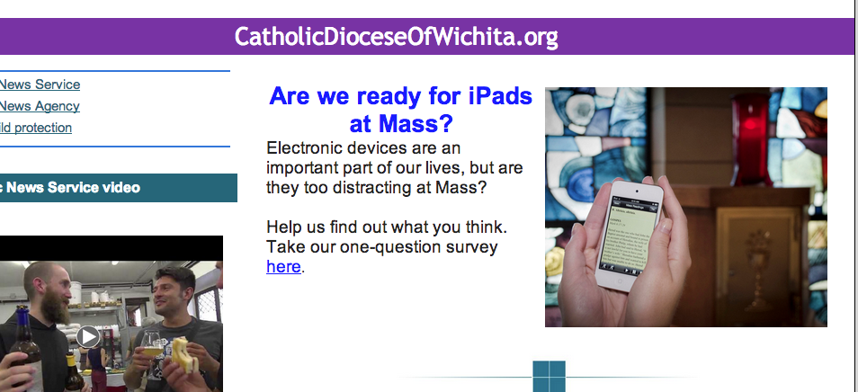 'Is It Ok to Use iPads in Church?' Asks Catholic Diocese in Survey