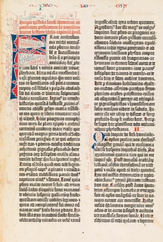 Gutenberg bible page 1