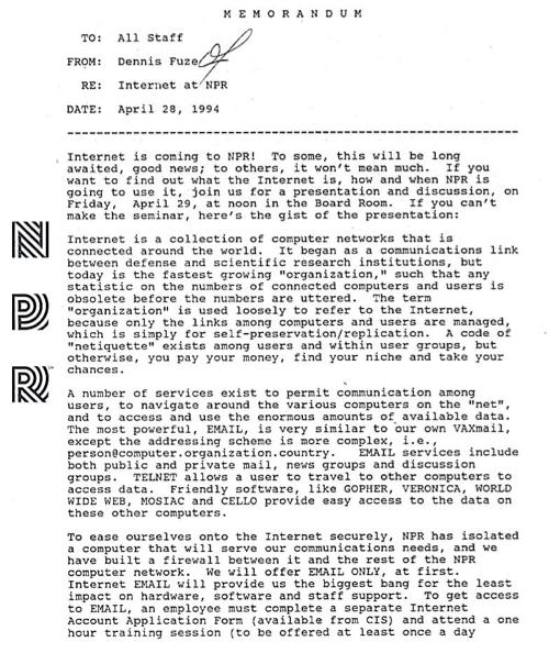 npr internet memo 1994