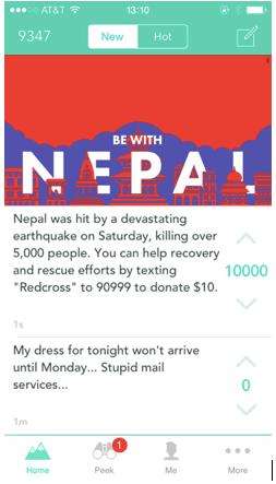 yik yak nepal screenshot