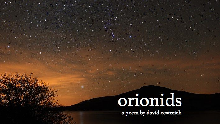 a picture of orionids meteor shower