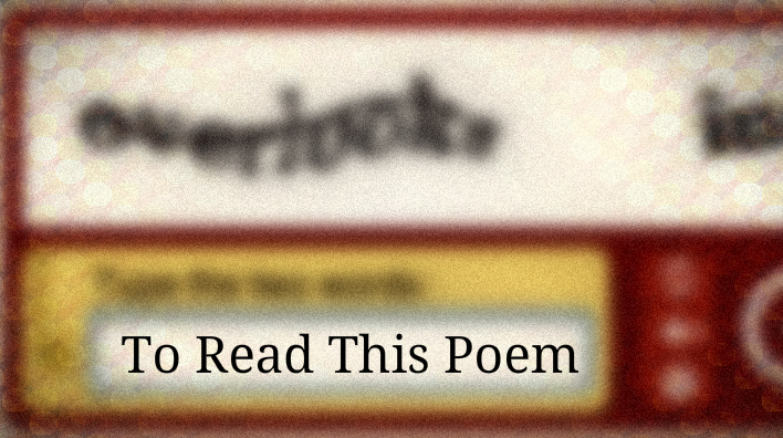 To Read This Poem